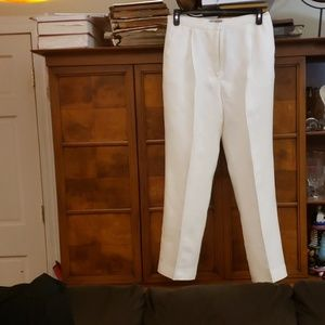 KATE HILL WHITE LINEN PANTS SIZE 12